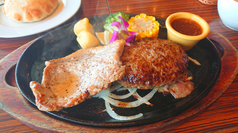 アグーステーキ&石垣牛ハンバーグ